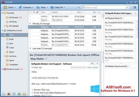 Скріншот FoxMail для Windows 8.1