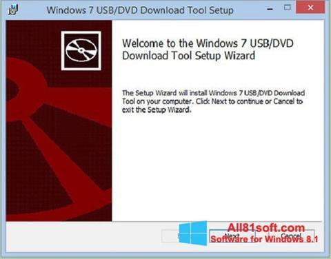 Скріншот Windows 7 USB DVD Download Tool для Windows 8.1
