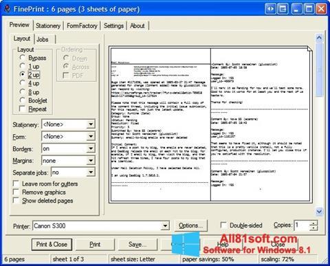 Скріншот FinePrint для Windows 8.1