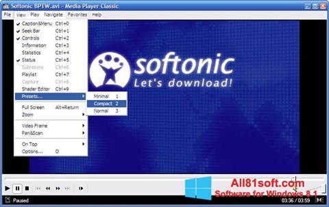 Скріншот Media Player Classic для Windows 8.1