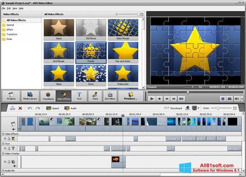 Скріншот AVS Video Editor для Windows 8.1