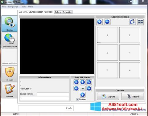 Скріншот webcamXP для Windows 8.1
