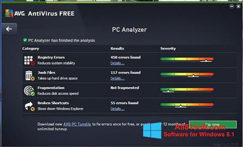 Скріншот AVG AntiVirus Free для Windows 8.1