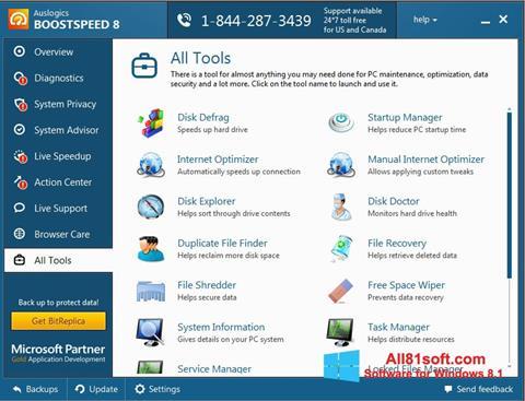 Скріншот Auslogics BoostSpeed для Windows 8.1