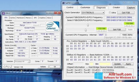 Скріншот SetFSB для Windows 8.1