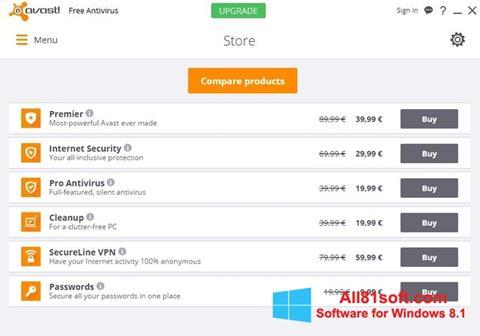 Скріншот Avast Free Antivirus для Windows 8.1