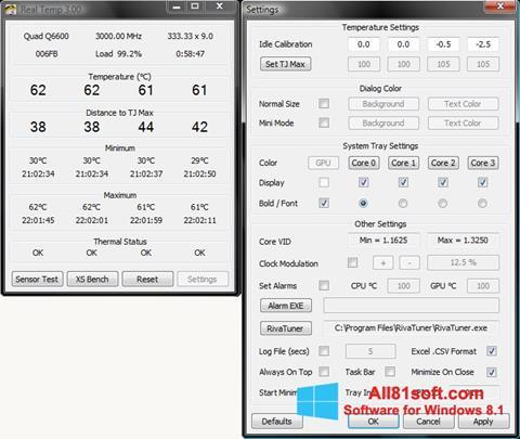 Скріншот Real Temp для Windows 8.1