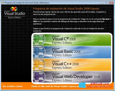 Скріншот Microsoft Visual Studio для Windows 8.1