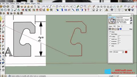 Скріншот SketchUp для Windows 8.1