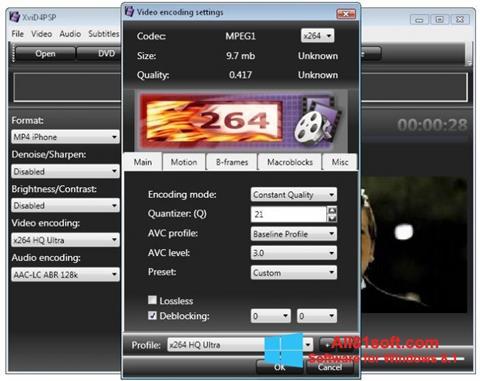 Скріншот XviD4PSP для Windows 8.1