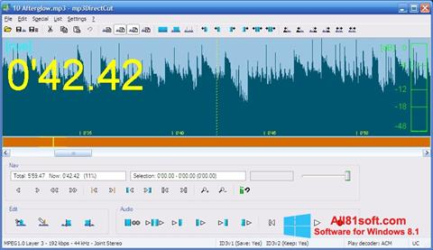 Скріншот mp3DirectCut для Windows 8.1