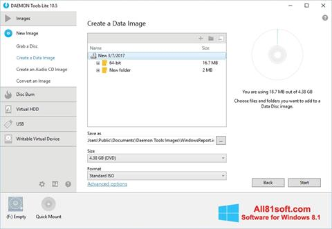 Скріншот DAEMON Tools Lite для Windows 8.1