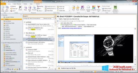 Скріншот Microsoft Outlook для Windows 8.1