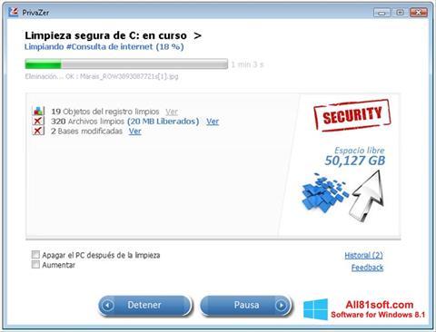Скріншот PrivaZer для Windows 8.1