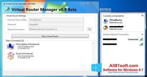 Скріншот Virtual Router Manager для Windows 8.1