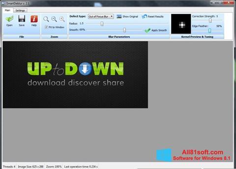 Скріншот SmartDeblur для Windows 8.1