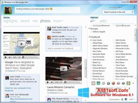 Скріншот Windows Live Messenger для Windows 8.1