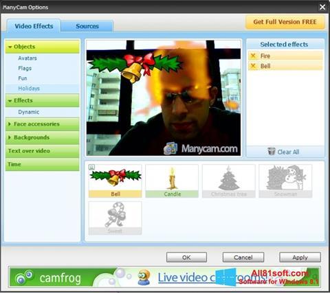 Скріншот ManyCam для Windows 8.1