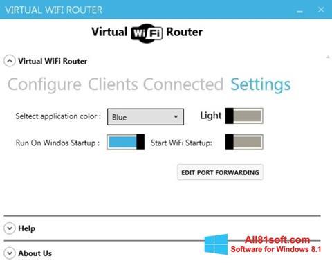 Скріншот Virtual WiFi Router для Windows 8.1
