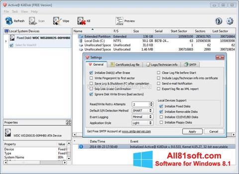 Скріншот Active KillDisk для Windows 8.1