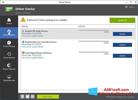 Скріншот Driver Genius для Windows 8.1