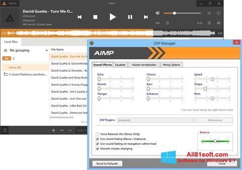 Скріншот AIMP для Windows 8.1