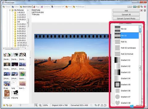 Скріншот PhotoScape для Windows 8.1