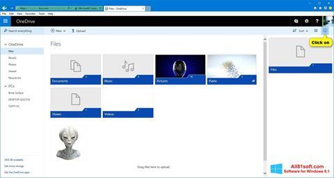 Скріншот OneDrive для Windows 8.1