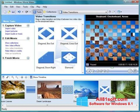 Скріншот Windows Movie Maker для Windows 8.1