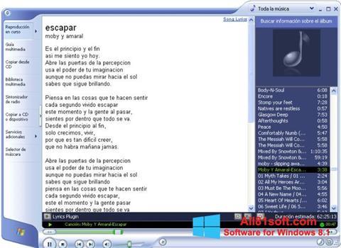 Скріншот Windows Media Player для Windows 8.1