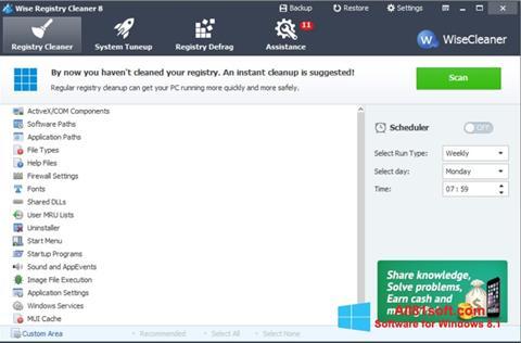 Скріншот Wise Registry Cleaner для Windows 8.1