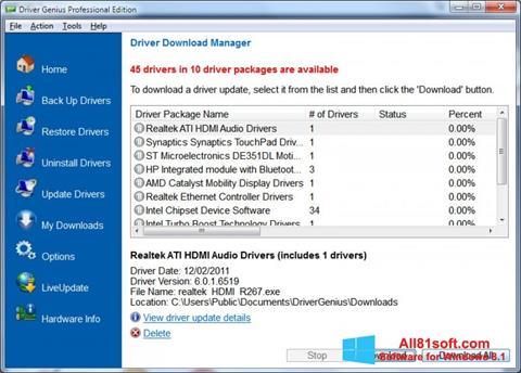 Скріншот Driver Genius Professional для Windows 8.1