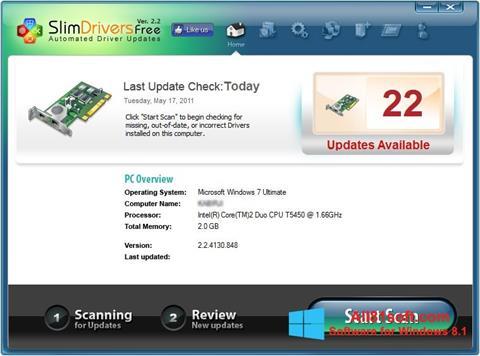 Скріншот SlimDrivers для Windows 8.1