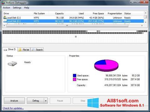 Скріншот Defraggler для Windows 8.1