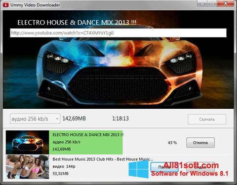 Скріншот Ummy Video Downloader для Windows 8.1