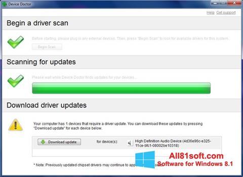 Скріншот Device Doctor для Windows 8.1