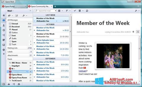 Скріншот Opera Mail для Windows 8.1