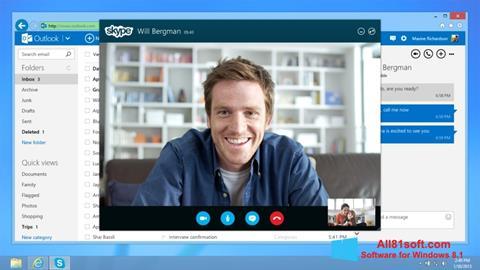 Скріншот Skype для Windows 8.1